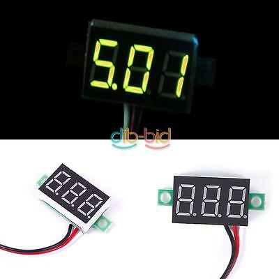 DC 0-32V LED Panel Voltage Meter 3-Digital Display Voltmeter Motorcycle Accurate