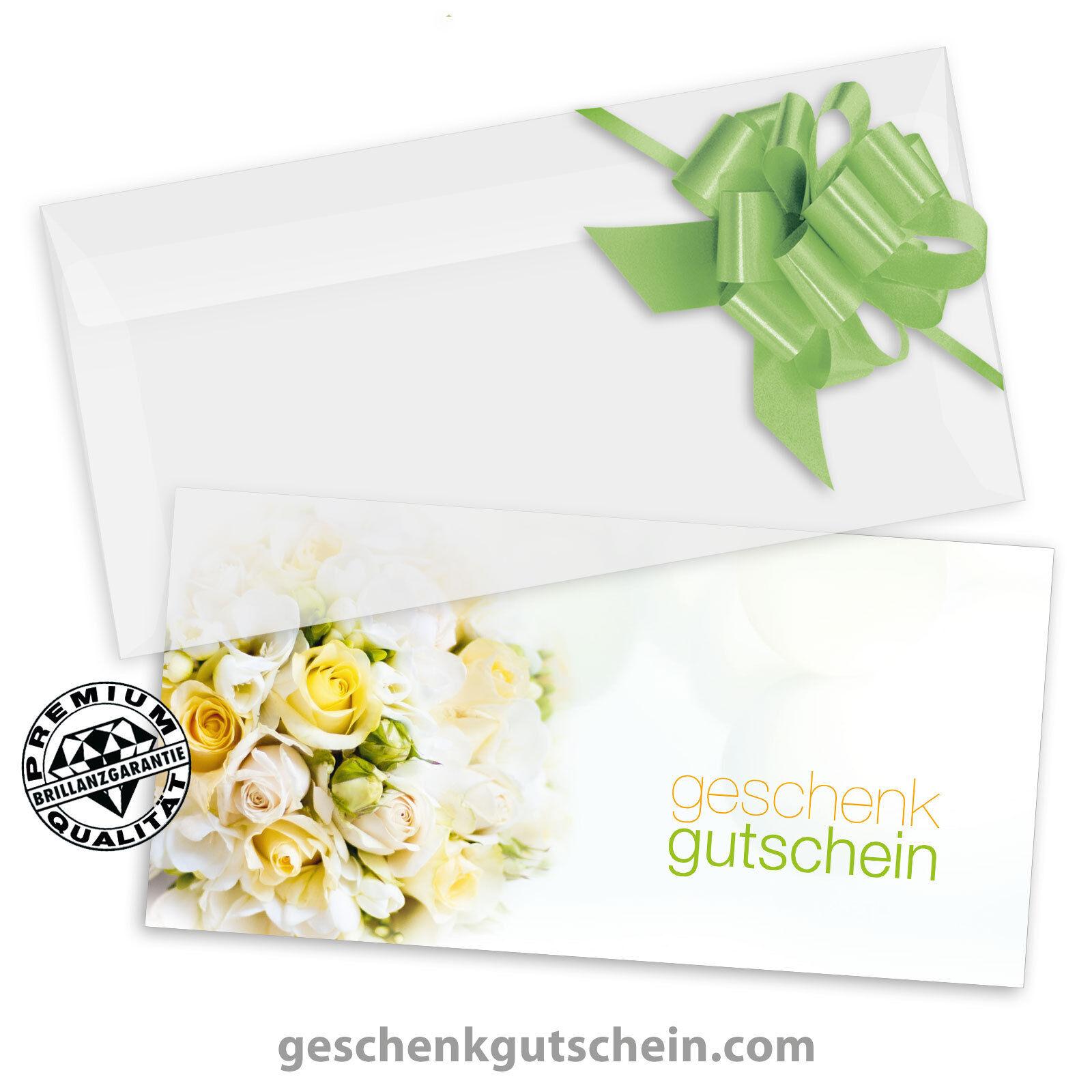 Gutscheinkarten  DINlang  mit KuGrüns und Schleifen für alle Anlässe BL9233