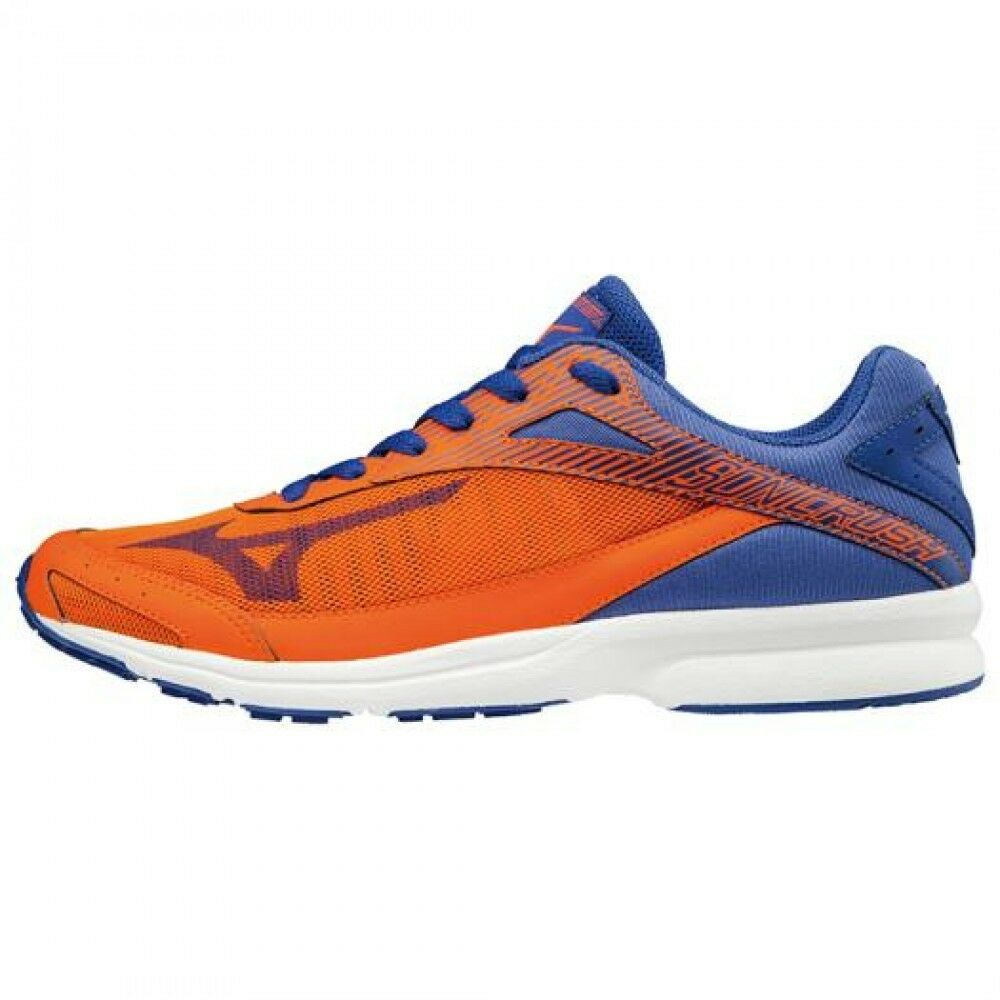 MIZUNO Running Schuhes SONIC RUSH WIDE J1GA1884 Orange × Blau Free shipping