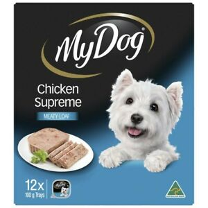 My Dog Chicken Supreme Loaf Classics Wet Dog Food 100g Trays 12 Pack