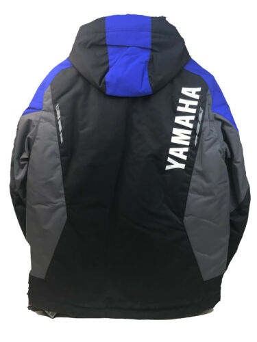 NEW YAMAHA FXR Mission FX MEN Jacket Snowmobile Black//Hivis Blue//Black Med//Large
