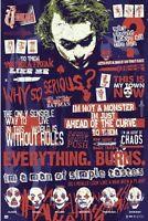 Dark Knight - Joker Quotes - Movie Poster 24x36 - Batman 160584