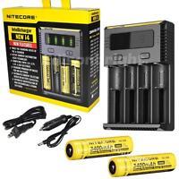 Nitecore I4 2016 Smart Battery Charger Imr/li-ion 18650/16340 W/ 2 X Nl189