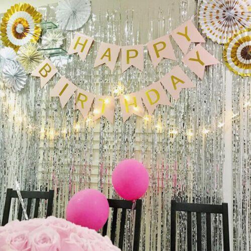 Foil Curtain Garlands Tinsel Wedding Birthday Backdrop Decoration Tassel