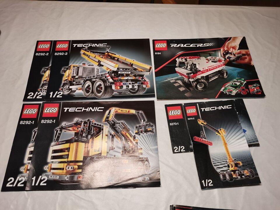 Lego Technic, Model 8275 8292-2 8292-1 8184 8270-1 8270-2