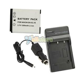 New-EN-EL19-ENEL19-Battery-Charger-for-Nikon-Coolpix-S4100-S3100-S2500-Camera