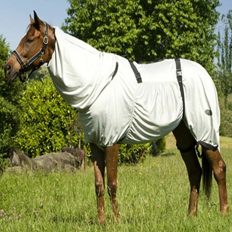 EQUESTRIAN SUMMER TURNOUT PROTECTION COMBO SWEET ITCH FLY RUG BLANKET 4'9 -7'0