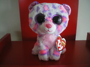 Ty Beanie Boos Serena leopard 6 inch NWMT. Justice Exclusive. NEW RELEASE.