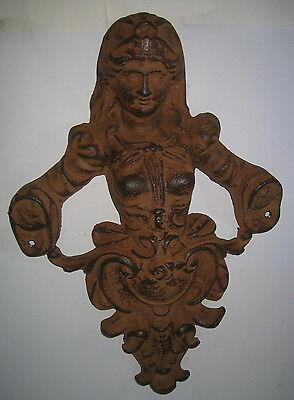 Figuren & Skulpturen Frauen Wand Relief Aus Gusseisen Wandfigur Im Barockstil 32x22x6cm üBerlegene Leistung