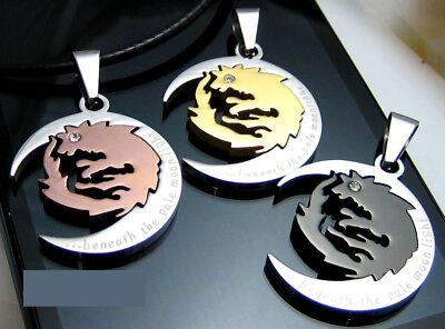 Edelstahl Anhänger Partner Halskette Partnerkette Wolf Schwarz Gold Kaffeegold Wir Nehmen Kunden Als Unsere GöTter