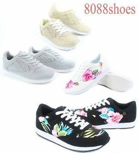 Women-039-s-Fashion-Cute-Round-Toe-Lace-Up-Oxford-Flat-Sneaker-Size-5-5-11-New