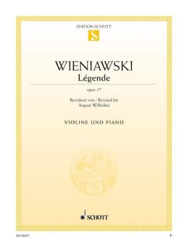 Légende op Henri violin and piano single sheet 17 Wieniawski