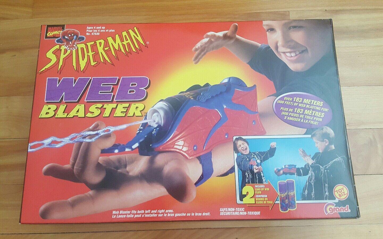 Spiderman web blaster 1998 ( canadian )toybiz grand