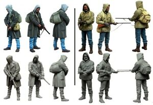 1-35-Resin-Zombie-War-Stalkers-2-Soldiers-Unassembled-Unpainted-BL708