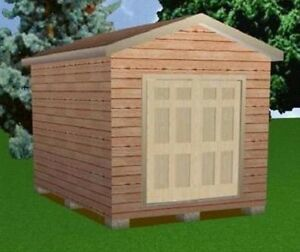 Details About 10x14 Storage Shed Plans Package Blueprints Material List Instructions