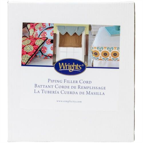 """Wrights Cotton Piping Cord 1/""""x40yd-white"""