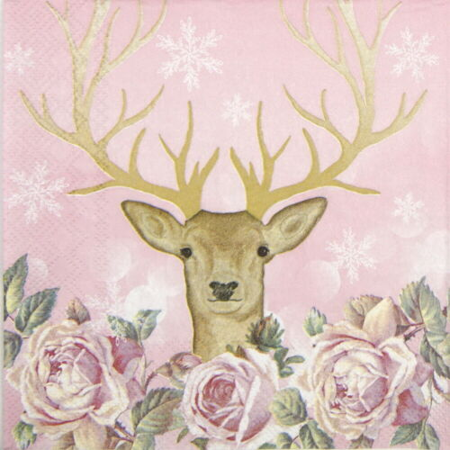 Decoupage Craft 4x Paper Napkins for Party My Deer More Romance