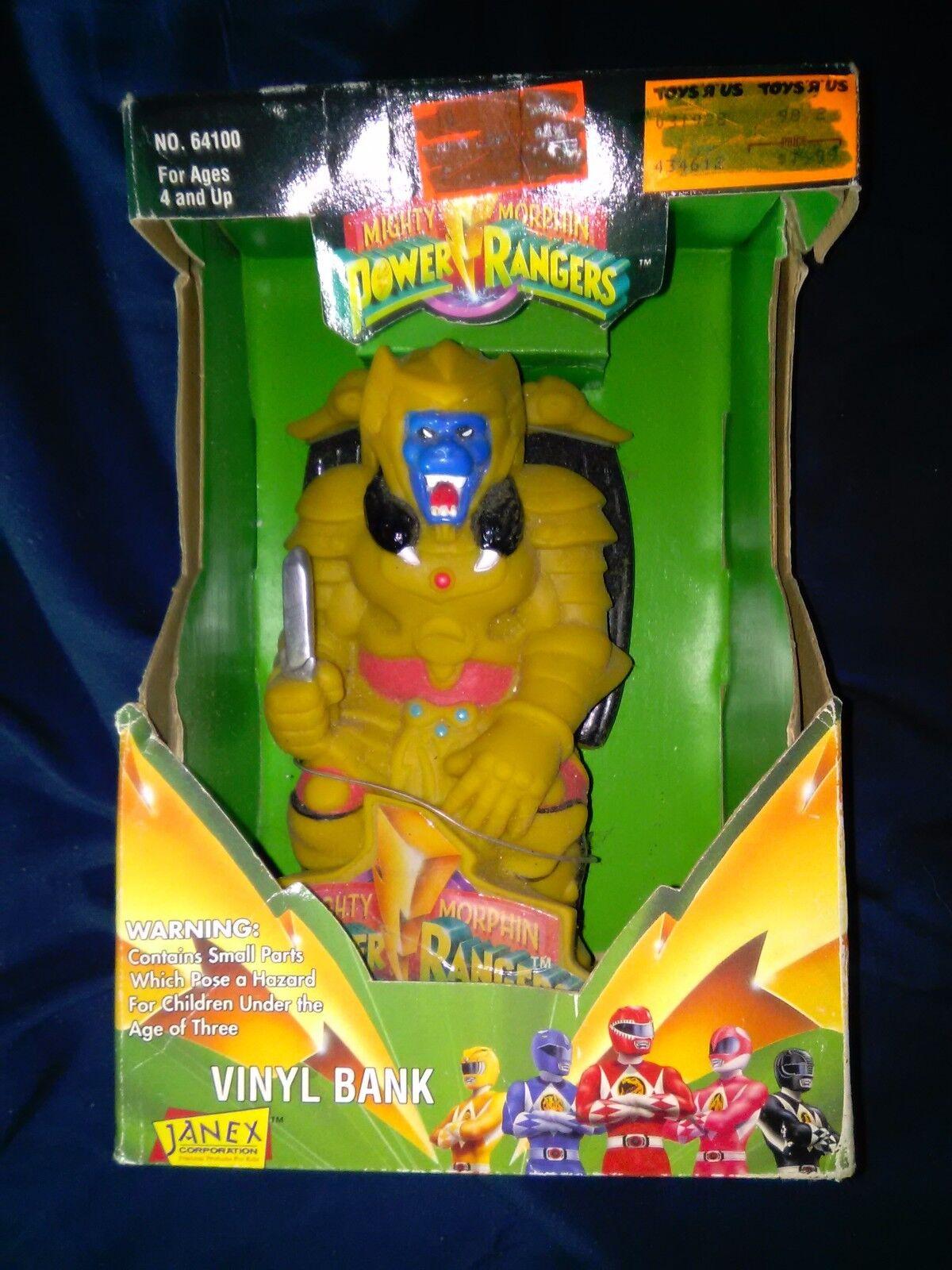 NEW   VINTAGE 1994 Power Rangers goldAR VINYL BANK  MINT