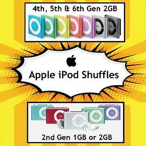 Refurbished Apple iPod Shuffle 4th Generation 2GB 5th 6th Music MP3 Clip Player