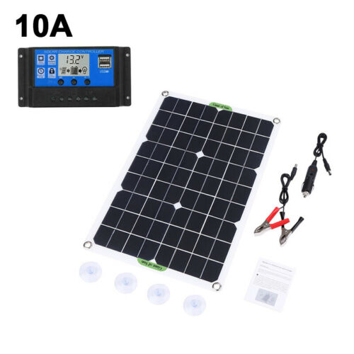 180W Solar Panel 12V Battery Charger 20-100A Controller for Caravan Boat RV