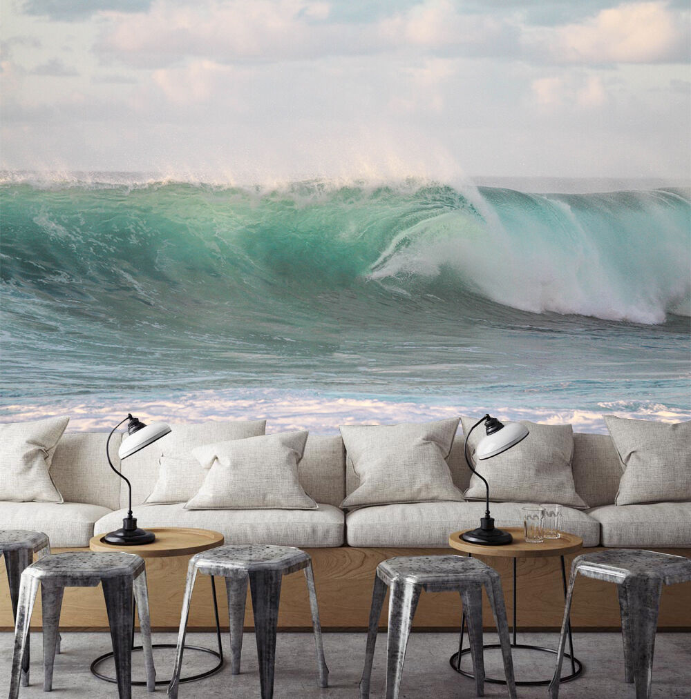 3D Weiß clouds Waves Wall Paper Print Decal Wall Wall Wall Deco Indoor wall Mural a066a5