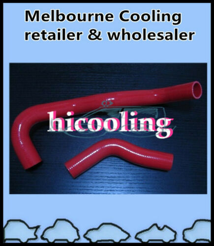 RED RADIATOR SILICONE HOSE LN65 LN60 LN61 FOR TOYOTA HILUX 2.4L DIESEL