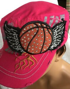 Ladies Cap Pink Wings