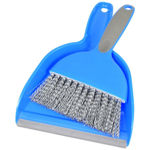 Cleaning Dust Pan /& Brush by Scrub Buddies Whisk Broom Portable Set Sweep New