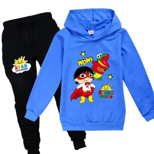 Ryan/'s World Pullover Sweatshirt Boy Girls Ryan Toys Review Hoodie Jumper+Pants