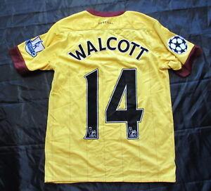 size 40 1cea7 f9de9 Details about Theo Walcott #14 ARSENAL shirt jersey NIKE Champions League  /BOY L 158cm /13 YRS