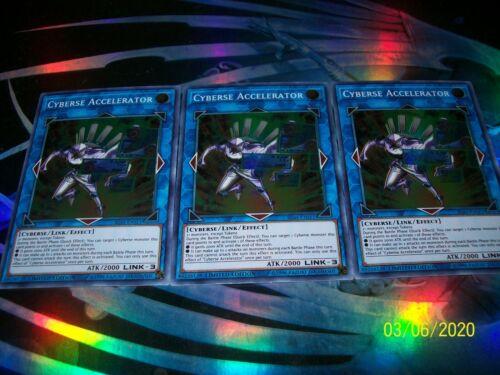 3x Cyberse Accelerator Limited Edition Super Rare IGAS-ENSE1 Yu-Gi-Oh!