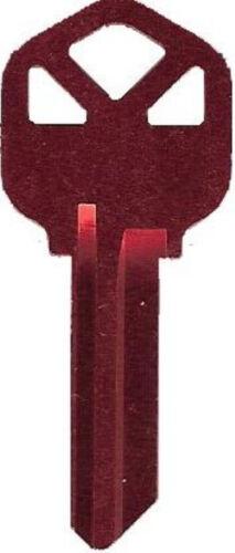 "Very Light Blank House Key KW1 or SC1 Red /""Titanium/"" Brand Name Aluminum"