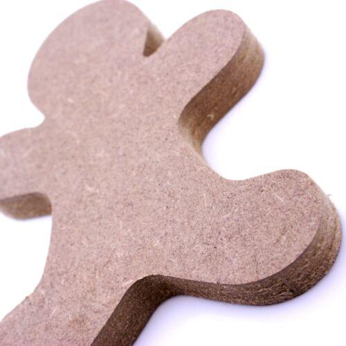 de noel Autoportante 18 mm MDF Gingerbread Man Craft forme différentes tailles fete