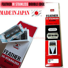 50 Pcs. FEATHER MADE IN JAPAN  Hi-Stainless Platinum Double Edge Razor Blades