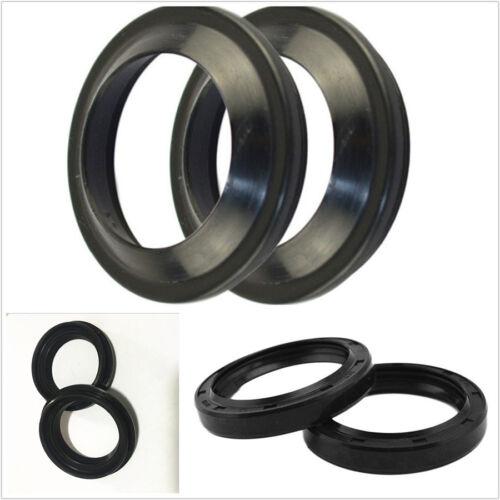 4 Pcs Black Rubber Motorcycles Front Fork Damper Oil Seal/&Dust Seals 47x58x11mm