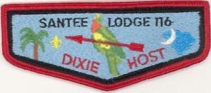 116-Santee-Lodge-Flap-S9-Dixie-Host-1983-Issue-CC109