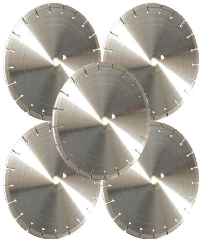 "5PK-14/"" LASER WELDED Concrete Brick Block Paver Asphalt Diamond Saw Blade-BEST"