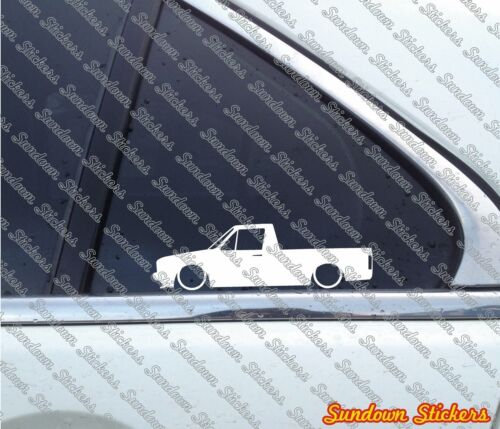2X Lowered car stickers for volkswagen vw CADDY Mk1Classic pickup
