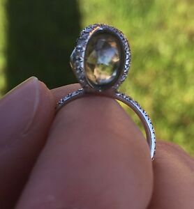 Details about Diamond In The Rough Ring / Engagement Ring / Custom Ring /  Rough Diamond
