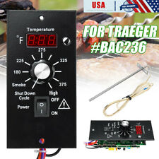 BAC236 Digital Thermostat Control Board + Probe For Traeger Wood Pellet Grills