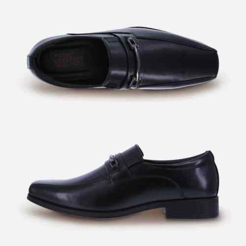 Dexter Comfort  Men/'s Crosby Bit Black Slip-On Dress Shoes Medium Width