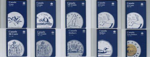 10 Canada Coin Collection Folder Album Penny Nickel Dime Quarter Loonie Toonie..