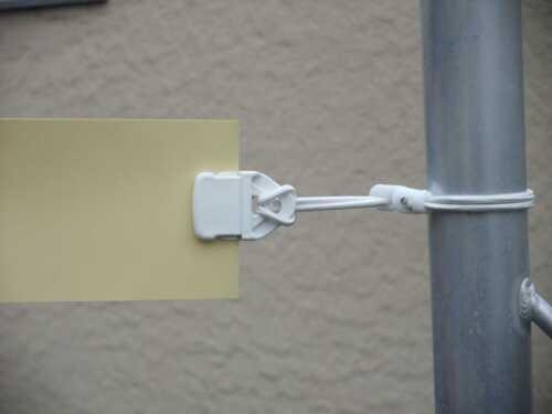 Je 20 x 25 cm Planen-Spanner Spannfix-Ösen-Spann-Banner-Clips Mini-Clip weiss