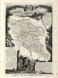 MAP-OLD-FRANCE-LEVASSEUR-CHARENTE-INFERIOR-POSTER-ART-PRINT-BB12018B