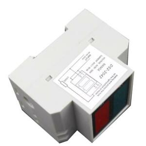 D52-2042-Din-Rail-LED-Voltage-Ammeter-Meter-Voltmeter-80-300V-AC-99-9A