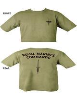 Royal Marines Commando T Shirt Double Print Military