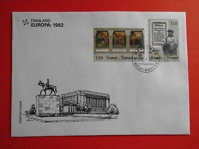 1982 Bm Satz Angemessen Brief 899+900 Klar Und GroßArtig In Der Art Sonderstempel Finnland Briefumschlag Mi.nr