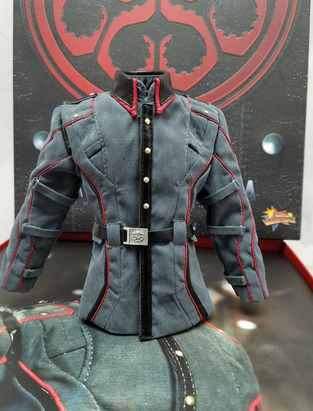 MMS167 Genuine 1/6 Hot Toys Captain America ROT Skull uniform top shirt only