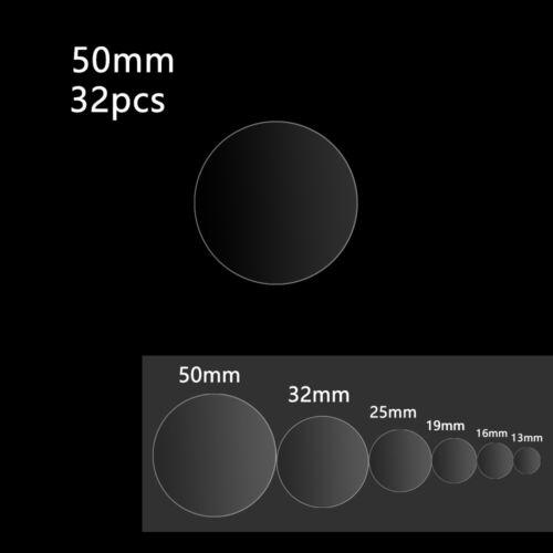 PVC Gloss Round Wafer Transparent File Sealing Self Adhesive Label Dot Sticker!~