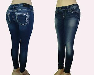 New Silver Jeans TUESDAY Skinny Regular/Plus Inseams 31 Good Price ...